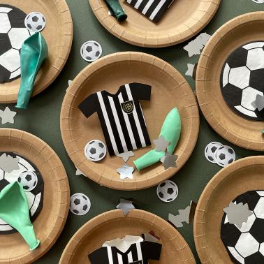 Bouw je voetbalfeestje met deze mooie voetbalservetten