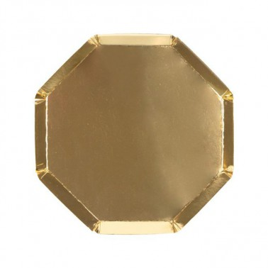 8 bordjes hexagon medium goud