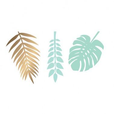 6 bladeren mint goud