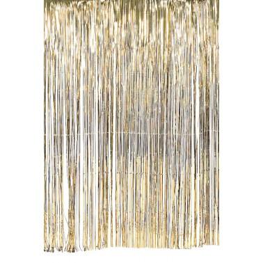 1m glittergordijn goud