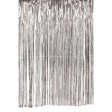1 m glittergordijn glitter zilver