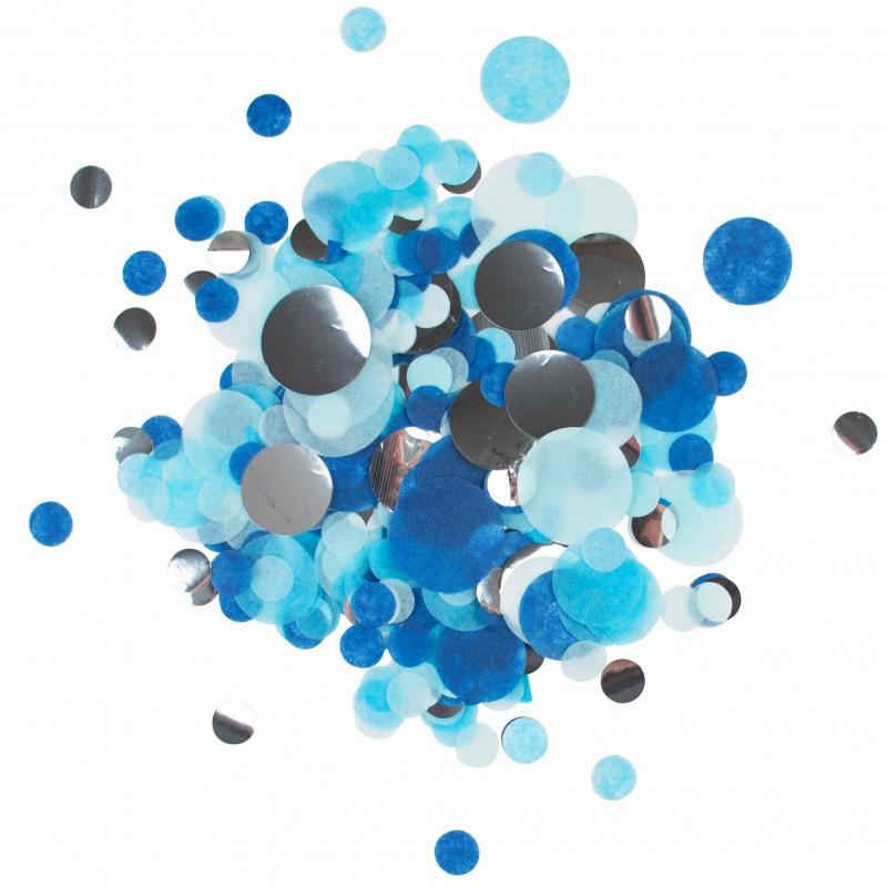 confettimix blauw, zilver