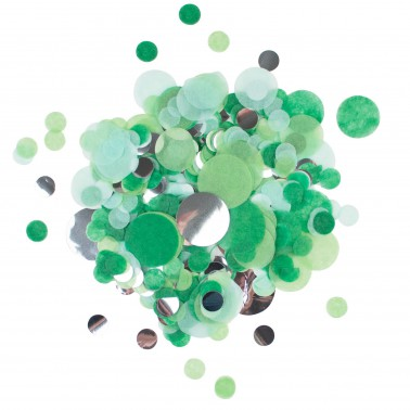 confettimix groen, zilver