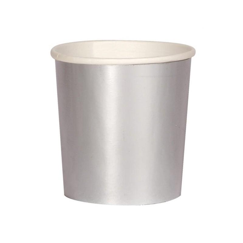 8 bekertjes zilver tumbler