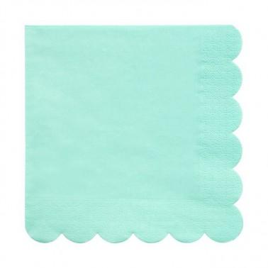 20 servetten scallop mint