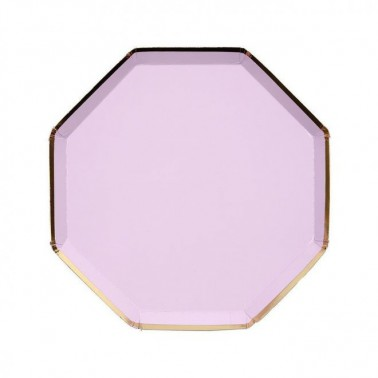 8 bordjes hexagon lichtpaars