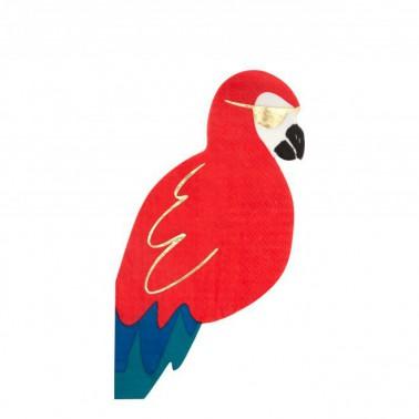 16 servetten piraten papegaai