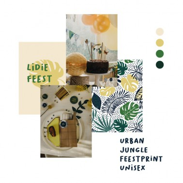feestprint urban jungle unisex