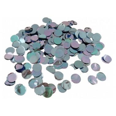 confetti metallic bleu