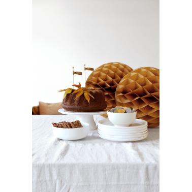 Maar liefst 35gr van de mooiste oker-gouden confettimix van 2,5cm diameter voor de versiering van je feesttafel