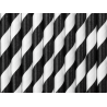 10 rietjes streepjes zwart
