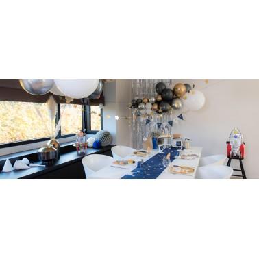 Fluwelen marineblauwe luxe tafelloper voor een catchy tafel van 2,5m