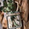 theelichthoudertje met houten parels
