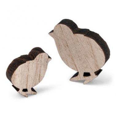 12 kuikentjes in hout