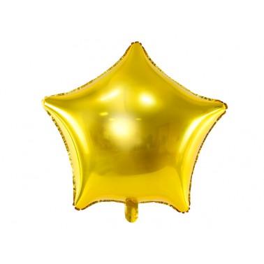 folieballon ster goud glanzend