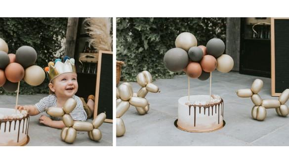 Had ik je al verteld dat je deze ballon taarttopper ook zelf kon maken?